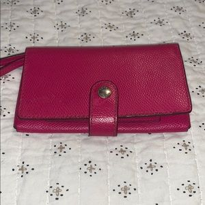 Handbags - Pink Coach Wallet with detachable wristband